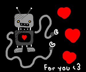 A love robot showing you the love!