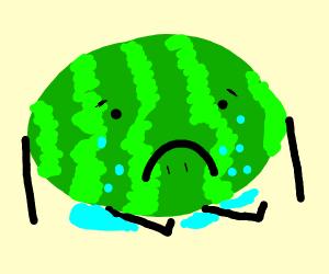 Depressed watermelon