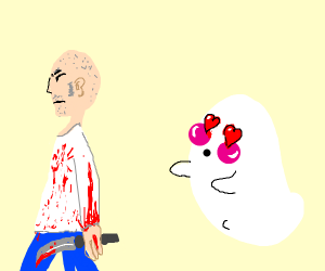 Guy ghost loves the man that killed him