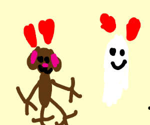 a dog and a ghost in love