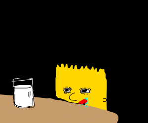 Bart desires milk