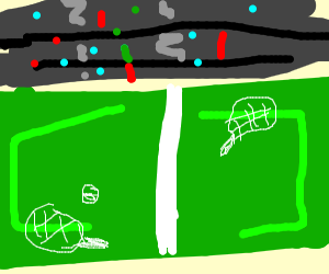 Tennis court, top view