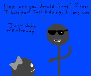 a guy flirting terribly