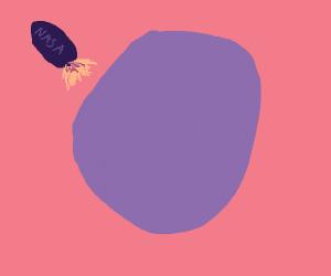 Landing of purple planet