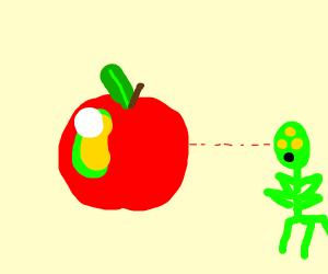 Alien apple stereotype