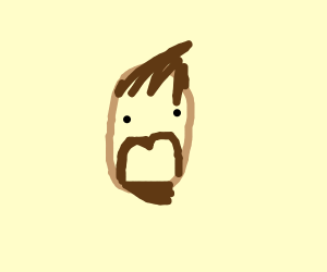 Potato with beard and weird hair