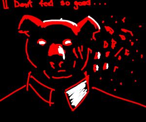 Red dog man isnt feeling so good