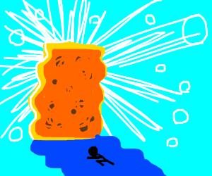 praying to the giant sponge