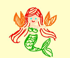 Ariel with crab hands