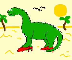 Dinosaur wearing Shoes