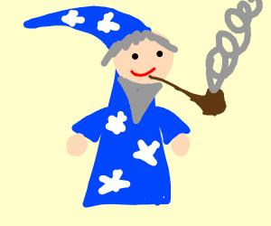 wizard smoking