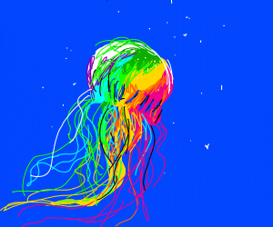 rainbow jelly fish