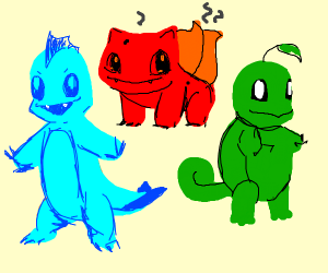 Type-swapped gen 1 starters (pokemon)