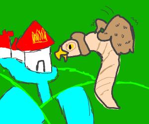 Birdworm flies to a new kingdom