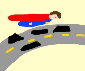Subparman crossing the Highway