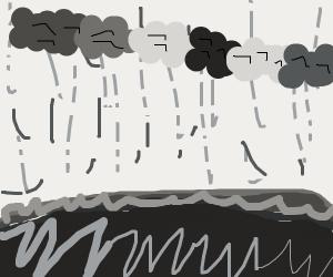 Pretty rain scene