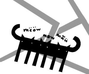 three headed cat