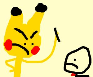 Pikachu rips off man's arm