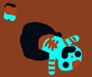 Spooderman crawls out a black hole