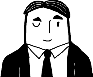 Business guy winking