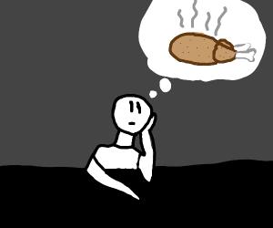 Thinking of chicken dinner