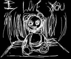 teddy bear loves you