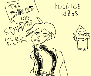 It's the short child, Edward Elric.