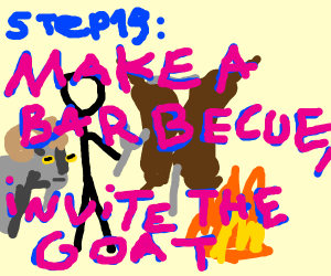 Step 18: cheat on the goat with a cow