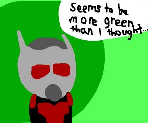 Antman mistook Shrek for Thanos