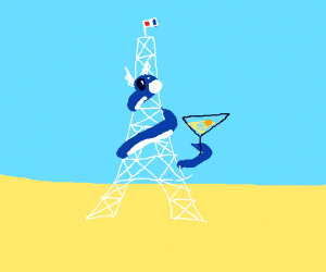 Dratini martini vs the Eiffel tower