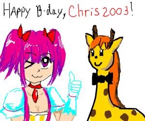 Madoka Kaname wishes Chris a Happy Birthday!