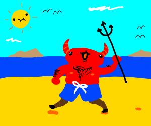 Devil at the beach