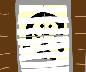 Girl staring behind blinds