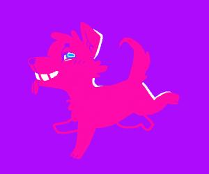 cute neon puppy