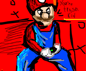 Mario Plays Super Smash Brothers Melee