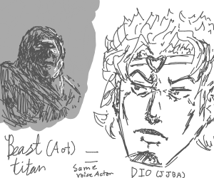 Beast Titan and Dio have the same voice actor