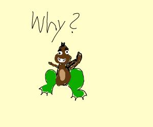frog + monkey