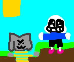 memecraft ft. t-pose sans and temmie