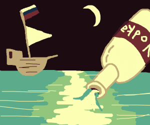 Setting sail on Russian Sea? (Water is vodka)