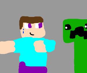 Steve Guides A Creeper