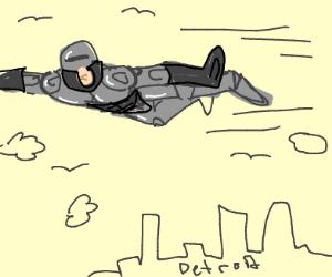 Flyover robo-cop