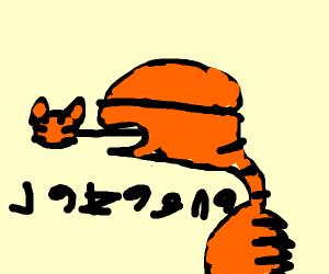 Garfield but he's a Xenomorph