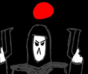 Reaper under a blood moon