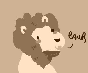 a well drawn lion