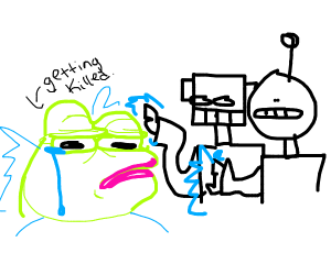 Robots killing Pepe