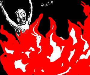guy trapped in hell