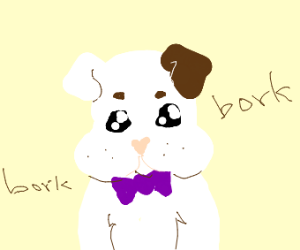 Cute pup with bowtie