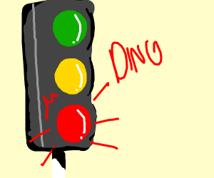 traffic lights on red