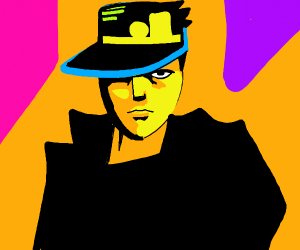jotaro with neon background