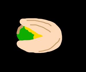 Just a lone pistachio